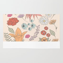 flower collage Rug