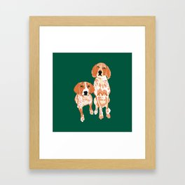 Gracie and George Framed Art Print