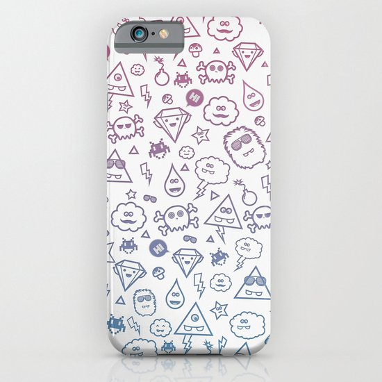 Cute & Sweet Monsters / Funny Clouds and Diamonds iPhone & iPod Case