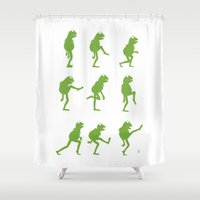 muppet Shower Curtains featuring Ministry of Silly Muppet Walks by 6amcrisis