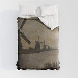 Windmills at Kinderdijk Holland Comforters