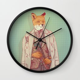 Jay the Fox Wall Clock