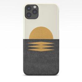 Sunset Geometric Midcentury style iPhone Case