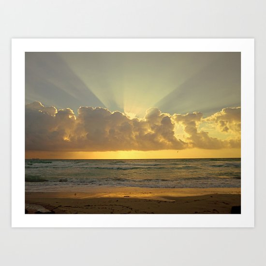 Miami Dreamin Art Print