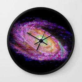 Glitch Galaxy Wall Clock