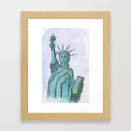 The Queen Of Liberty Framed Art Print