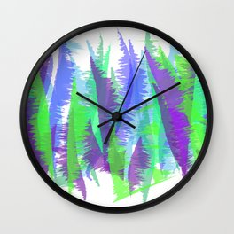 Purple and Green Abstract - original design by ArtStudio29 Wall Clock