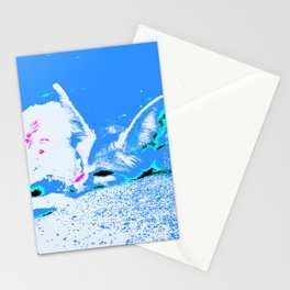 Pop Art Fennec Fox Stationery Cards