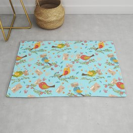 Special Springtime Delivery From Little Birds Pattern Rug