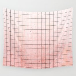 Sweet Pink Geometry Wall Tapestry