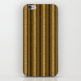 Bubbly Brown Striped Pattern iPhone Skin