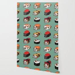 Sushi English Bulldog Wallpaper
