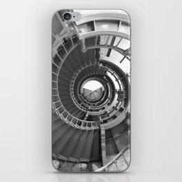 Gray's Harbor Lighthouse Stairwell Spiral Architecture Washington Nautical Coastal Black and White iPhone Skin