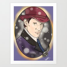 The Doctor and The Snow Art Print