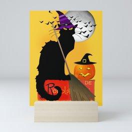Le Chat Noir - Halloween Witch Mini Art Print