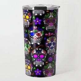 Candy Skulls Travel Mug