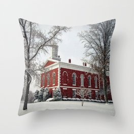 Side View of the Iron County Courthouse Throw Pillow