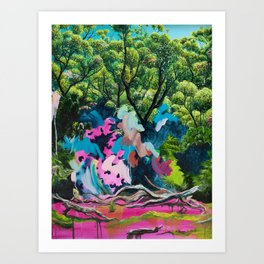 Werrong with Pink and Blue Art Print