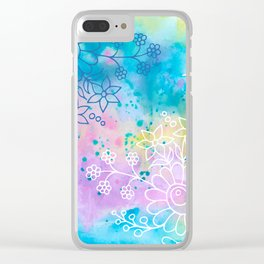 Watercolour abstract floral 4 Clear iPhone Case