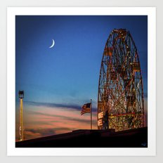 Coney Island Twilight Art Print