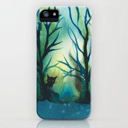 Louisiana Whimsical Black Cats iPhone Case