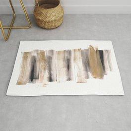 [161216] 7. Golden |Watercolor Brush Stroke Rug