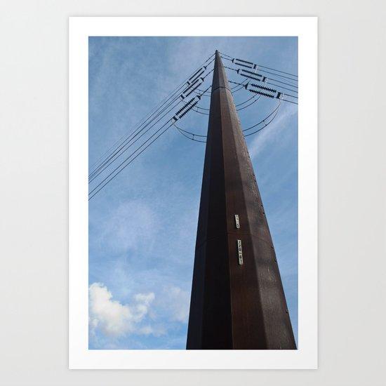 Abandoned Village Electrical Pole Art Print