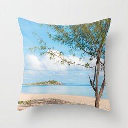 Middle Beach Throw Pillow