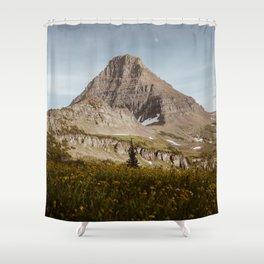 Moon Rising Above Hidden Lake Shower Curtain