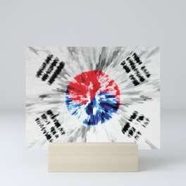 Extruded flag of South Korea Mini Art Print