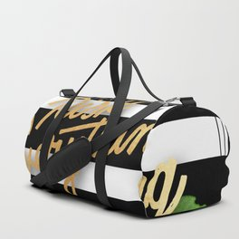Gold,risk everything Duffle Bag