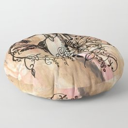 Acrylic Abstract Painting HUMMINGBIRD II Floor Pillow