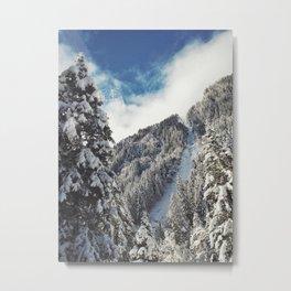 Snowy paradise in the Austrian Alps Metal Print