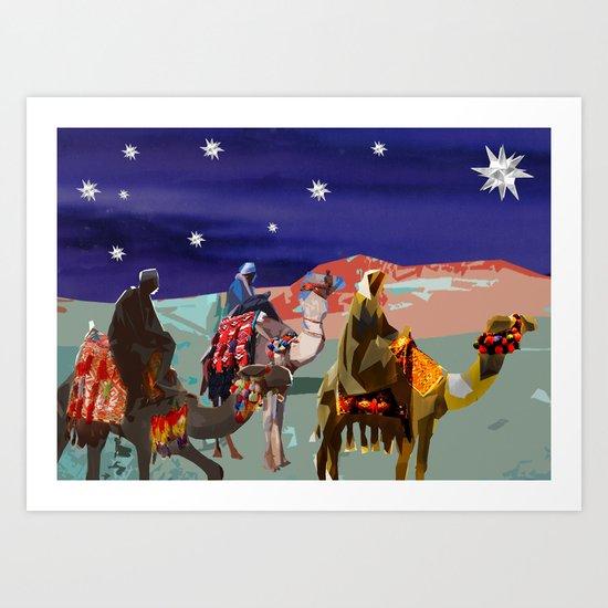The Three kings  Art Print