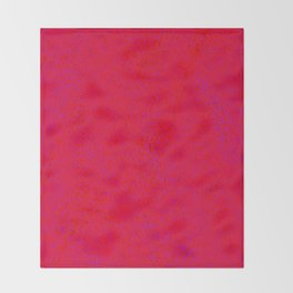 quantum waves red red Throw Blanket