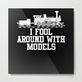 Model Building Railway Metal Print