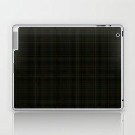 Abingdon, Bourbon on Forest Green Tattered Salvatore Laptop & iPad Skin