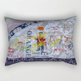 Graffiti on Concrete Rectangular Pillow