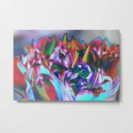 Colored Tulips Metal Print