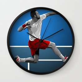 Jo-Wilfried Tsonga Wall Clock