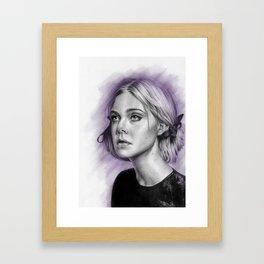 Elle Fanning Drawing - Spatter Series Framed Art Print