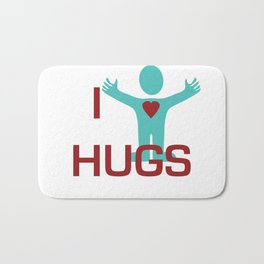 I heart Hugs Bath Mat