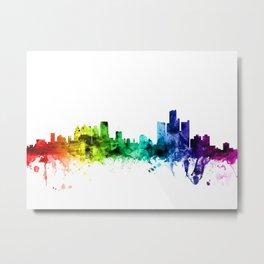 Detroit Michigan Skyline Metal Print