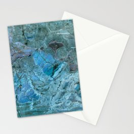 Oceania Teal & Blue Marble Stationery Cards