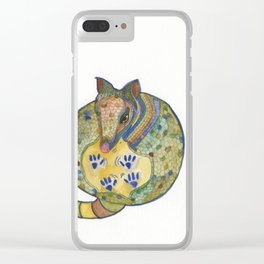 Armadillo In The Sky Clear iPhone Case