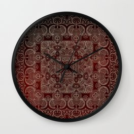 Silvery Doodle Wall Clock