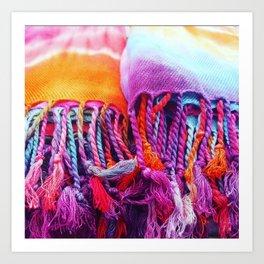 Rainbow tassels Art Print
