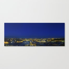 Odense Harbour By Night Canvas Print