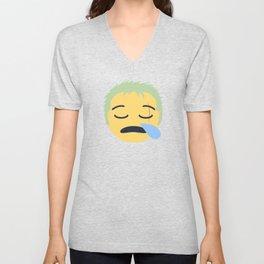 Roronoa Zoro Emoji Design Unisex V-Neck