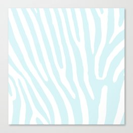 Blue Zebra Canvas Print